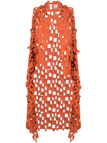 Куртка без рукавов - оранжевая Rundholz