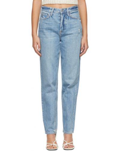 Кожаные белые джинсы стрейч с заплатками Grlfrnd
