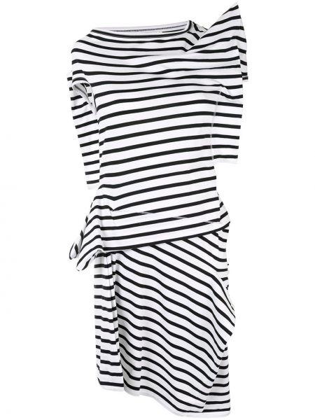 Асимметричное приталенное платье мини винтажное с драпировкой Junya Watanabe Comme Des Garçons Pre-owned