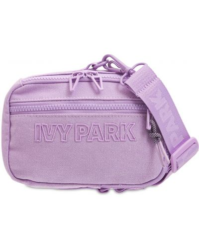 Фиолетовая косметичка с вышивкой Adidas X Ivy Park