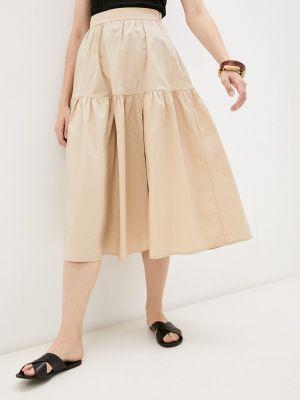 Бежевая юбка осенняя Lorani