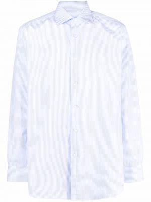 Рубашка в полоску - синяя Brioni