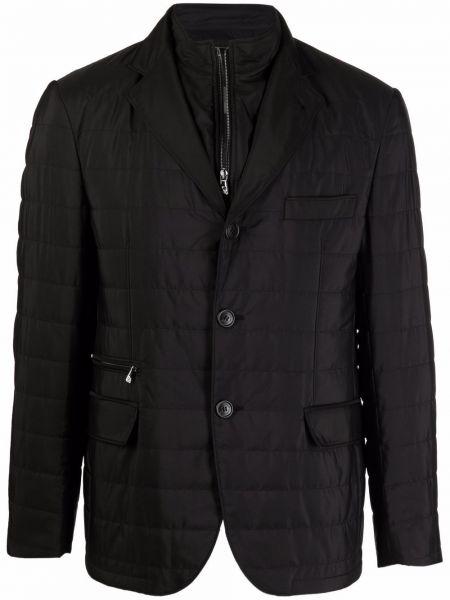 Черный однобортный пиджак Corneliani