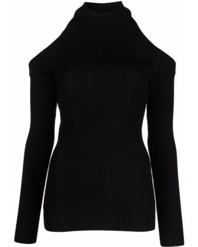 Джемпер с открытыми плечами - черный Monse