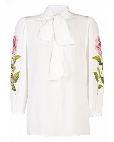 Блузка с воротником-стойкой прямая Dolce&gabbana