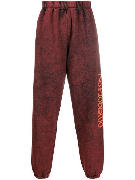 Czerwony bawełna bawełna dres z kieszeniami Aries