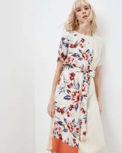 Платье с запахом - бежевое French Connection