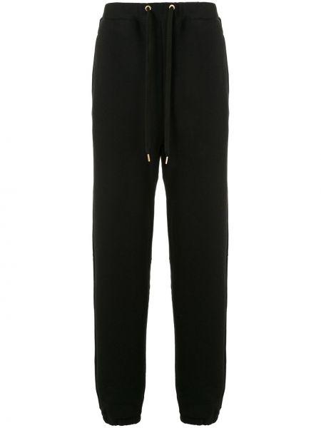 Свободные черные прямые брюки с карманами новогодние Makavelic