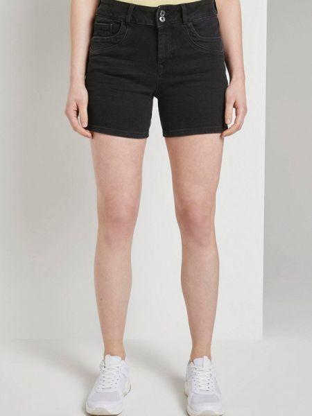 Черные джинсовые шорты Tom Tailor Denim