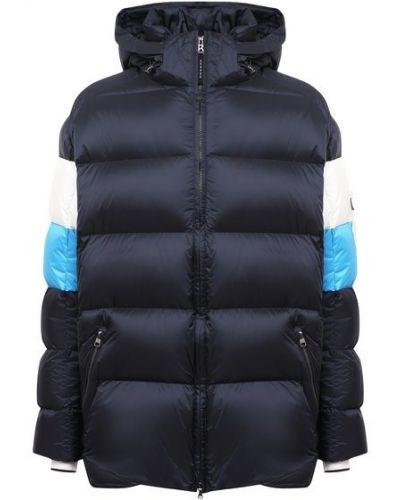 Пуховая синяя куртка с перьями Bogner