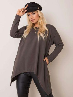 Bluzka asymetryczna - khaki Fashionhunters