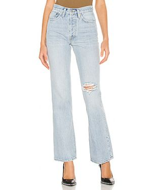 Хлопковые джинсы на пуговицах Re/done