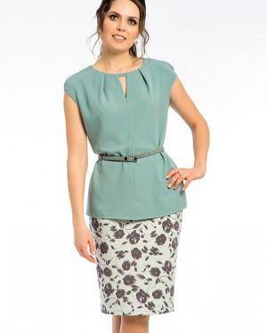 Блузка без рукавов зеленый из вискозы Modellos