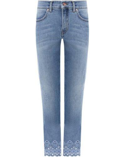 Широкие джинсы голубой укороченные Escada Sport
