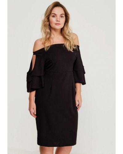 Платье миди черное Lost Ink Plus