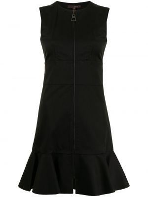Черное платье для полных без рукавов Louis Vuitton