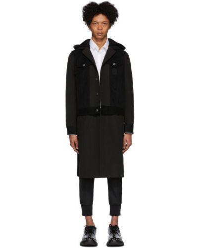 Пальто с капюшоном длинное бушлат Neil Barrett