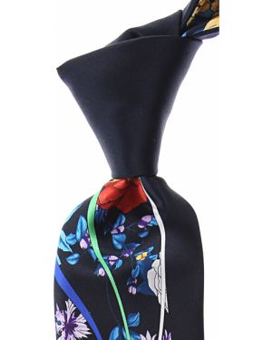 Niebieski krawat z jedwabiu Pancaldi