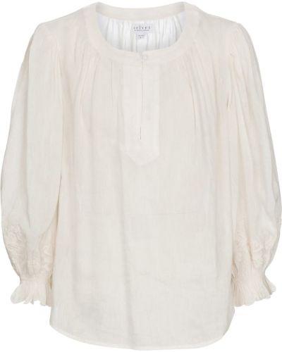 Biała bluzka z wiskozy Velvet