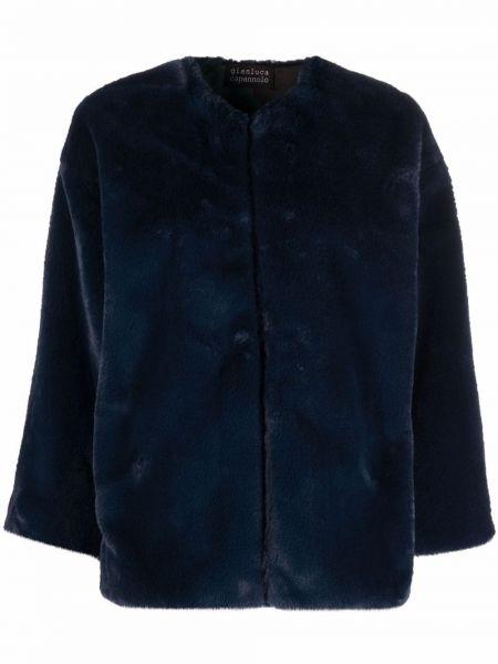 Синяя куртка из полиэстера Gianluca Capannolo