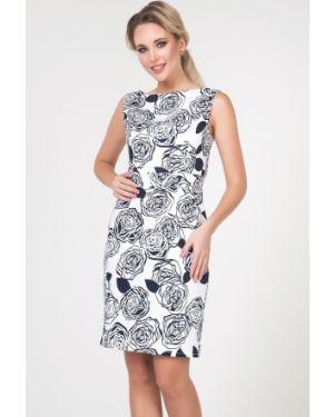 Платье с поясом с цветочным принтом с V-образным вырезом Valentina