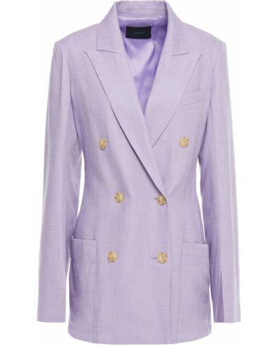 Фиолетовый пиджак двубортный с накладными карманами Joseph