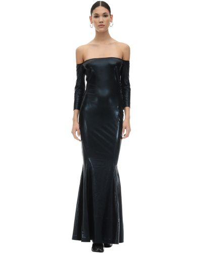 Платье кожаное Norma Kamali
