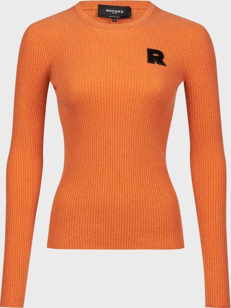 Оранжевый кашемировый джемпер Rochas