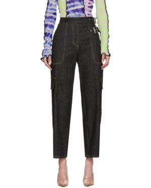 Прямые черные прямые джинсы стрейч Miaou