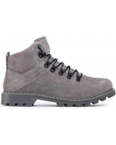 Кожаные ботинки - серые Sergio Bardi