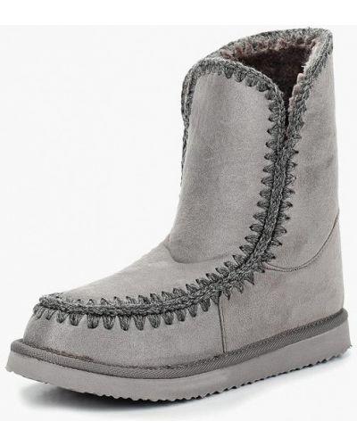 Серые полусапожки замшевые Style Shoes