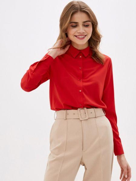 Блузка с длинным рукавом осенняя красная Villagi