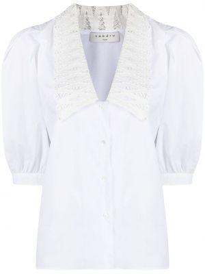 Хлопковая блузка - белая Sandro Paris