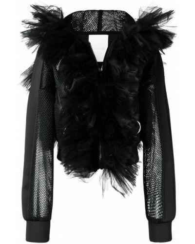 Черная куртка с манжетами из фатина Loulou