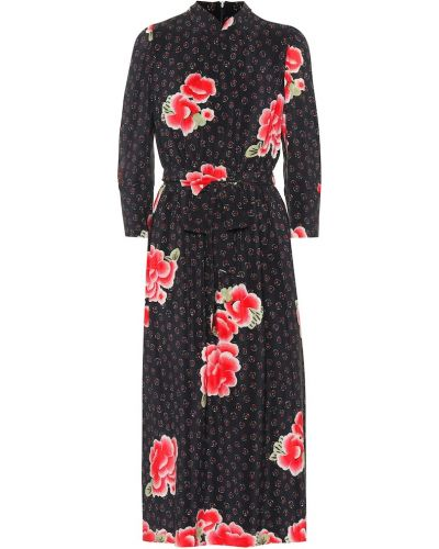 Платье миди с цветочным принтом шелковое Simone Rocha