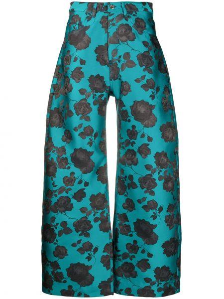 Szerokie spodnie z wysokim stanem czarne Marques'almeida