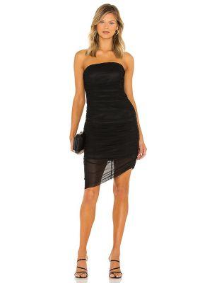 Czarna satynowa sukienka Majorelle
