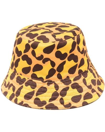 Czarny kapelusz bawełniany z printem Fendi Kids
