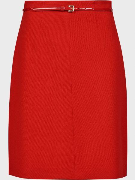 Шерстяная красная юбка Luisa Spagnoli