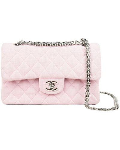 Różowa torebka pikowana Chanel Vintage