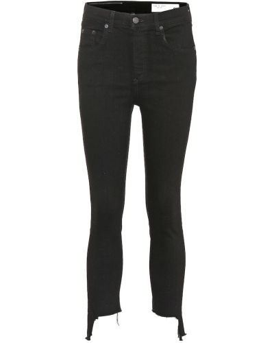 Bawełna czarny bawełna z wysokim stanem obcisłe dżinsy Rag & Bone