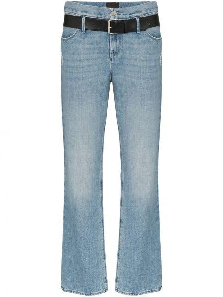 Czarne jeansy bawełniane z paskiem Rta