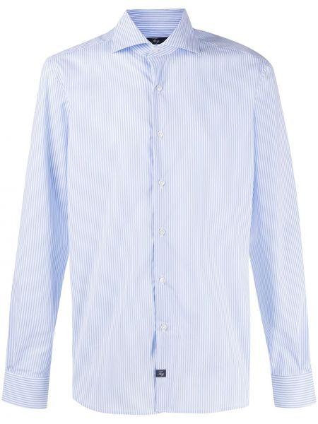 Koszula z długim rękawem klasyczna niebieski Fay