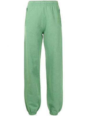 Zielone spodnie bawełniane z printem Les Girls Les Boys