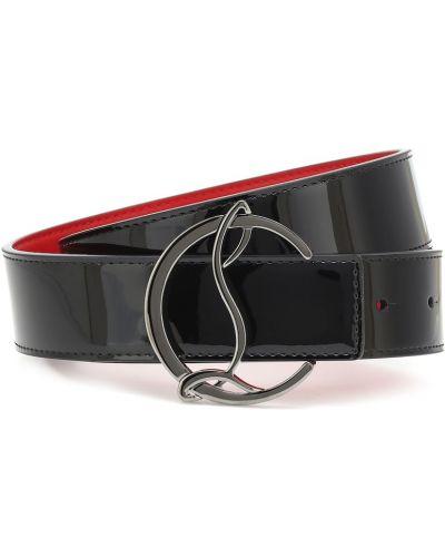 Повседневный кожаный черный ремень с поясом Christian Louboutin
