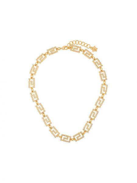 Золотистое ожерелье золотое металлическое Versace