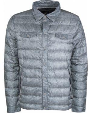 Стеганая серая стеганая куртка с воротником на кнопках Montecore