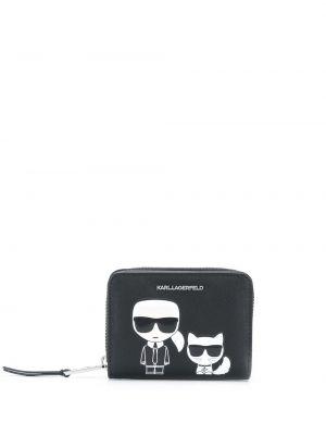 Черный кошелек со шлицей Karl Lagerfeld