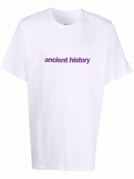 Biała koszulka z printem Oamc