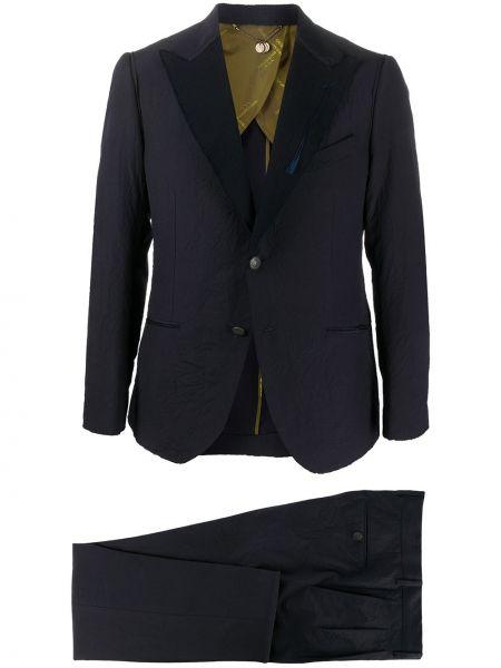 С рукавами синий шерстяной костюмный костюм классический Maurizio Miri